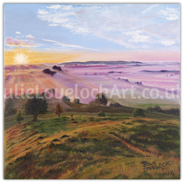 Somerset Levels from Burrow Mump by Julie Lovelock