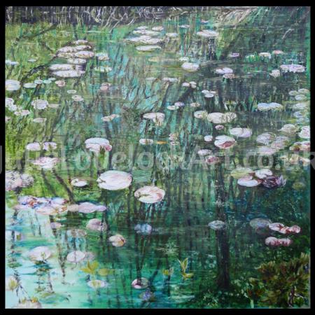 Reflection on Waterlilies by Julie Lovelock