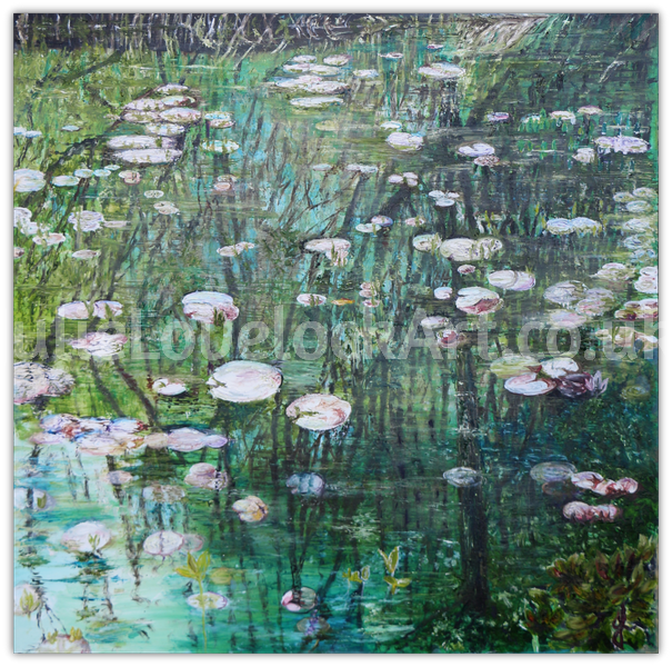 Reflection on Waterlilies by Julie Lovelock