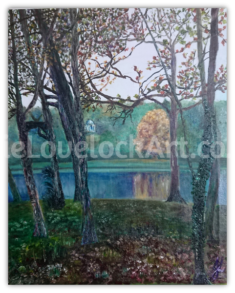 Stourhead Reflections - Impression of Apollo by Julie Lovelock