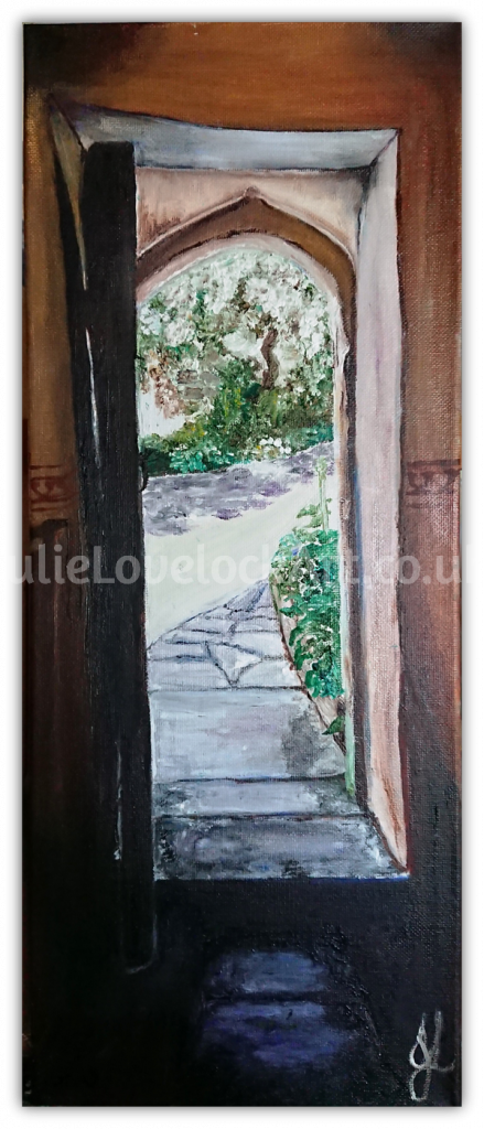 Glastonbury Abbey: Path from St Patrick's Chapel by Julie Lovelock